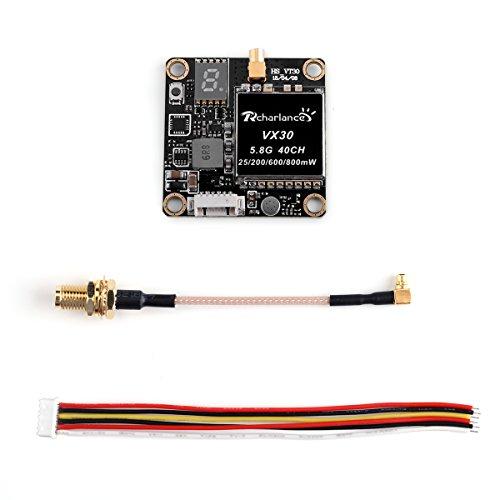 Rcharlance, VX30 5.8G 40CH FPV Transmitter 25/200/600/800mW Switchable FPV Video Transmitter for Cam Mini FPV AV RC Transmitter for Racing Drone Quadcopter (Best Cheap Quadcopter Transmitter)