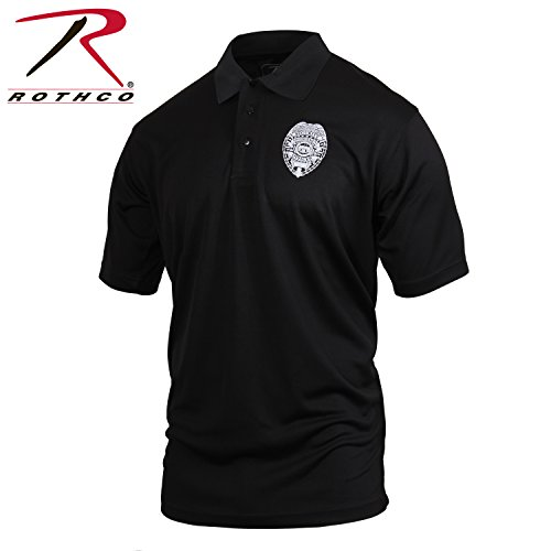 (Rothco Moisture Wicking Security Polo Shirt with Badge, XX-Large)