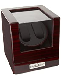 Diplomat Unisex Ebony Wood Finish Watch Winder 31-423