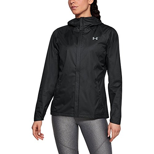 Under Armour Outerwear Armour Women's Essential Crew, Black (001)/Overcast Gray, Medium (Women Under Armour Jacket)
