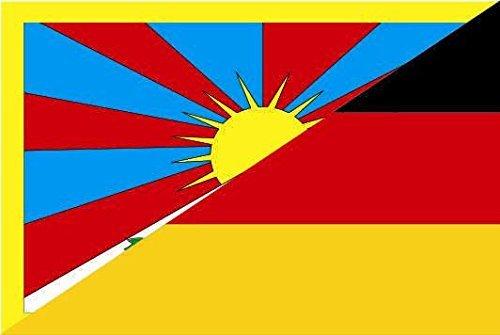 U24 Drapeau du Tibet drapeau Allemagne de Bateau haute qualité pour 150 x 250 cm