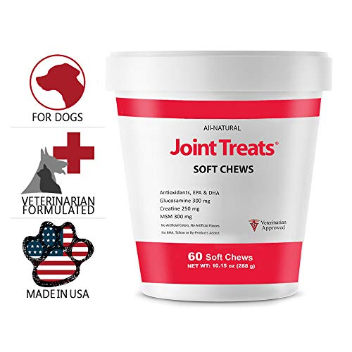 Joint MAX Joint Treats for Dogs - Glucosamine, MSM, Antioxidants, Creatine - Hip and Joint Pain Relief and Support Low Calorie Treat for Dogs - Made in USA - 60 Soft Chews