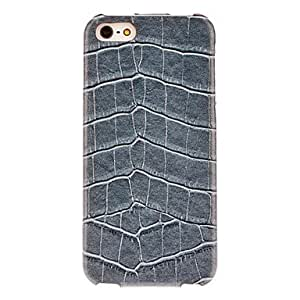 Alligator Pattern Flip Case with Interior Flocking Protection for iPhone 5/5S (Optional Colors) --- COLOR:Blue
