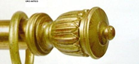 Bastoni In Legno Per Tende.Bastone Per Tenda In Legno Anticato Dea 35mm Movimento A Corda E