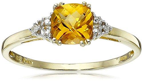 Gold Citrine Birthstone Ring - 1