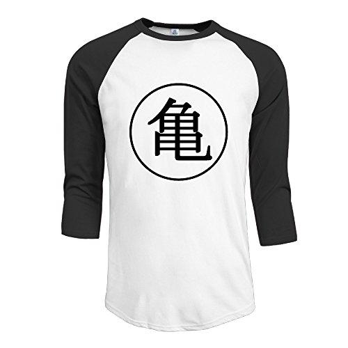 Dragon Ball Z Kame Symbol 3/4 Baseball Tee Raglan Tee Shirts Baseball Jersey