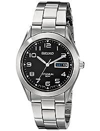 Seiko Men's SGG711 Quartz Titanium Case and Bracelet Watch