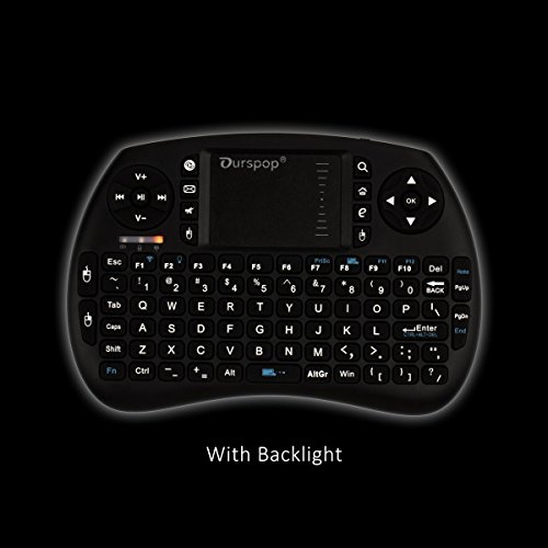 Price comparison product image OURSPOP 2.4G Wireless Mini Qwerty Backlit Keyboards Combo for XBMC with Touchpad (OP-R7)