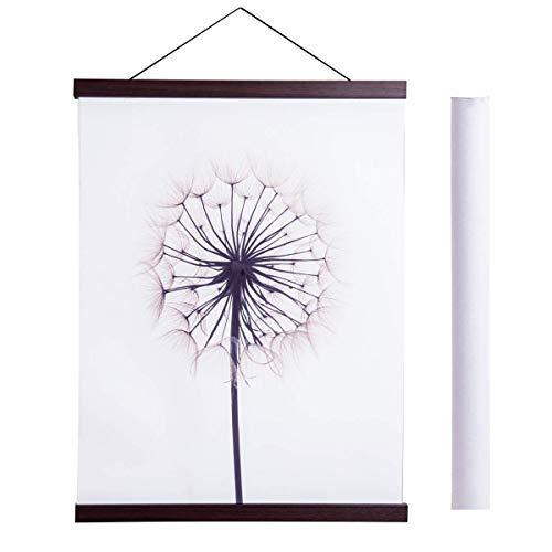 Magnetic Poster Hanger Frame, 39x27 39x13 39x22 Light Wood Wooden Magnet Canvas Artwork Print Dowel Poster Hangers Frames Hanging Kit (Walnut, - Inch Poster 39 Art Print