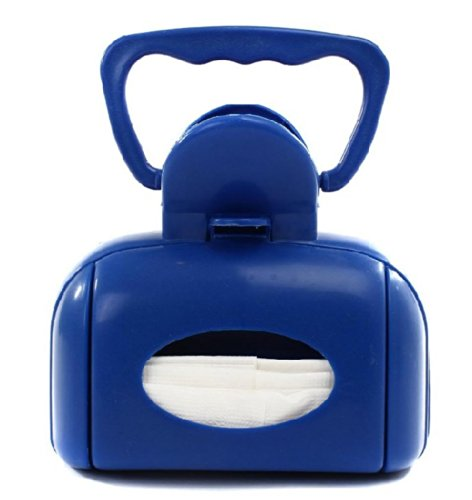 Generic Portable Dog Litter Waste Scoop Pick Up Holder Container Waste Remove Tool 6.2X3.9X5.9 Blue