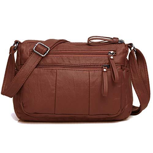 Volcanic Rock Women Crossbody Bag Pocketbooks Soft PU Leather Purses and Handbags Multi Pocket Shoulder - Vinyl Handbag Ladies