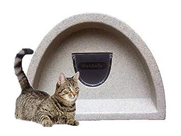 Primavera Oferta £ 48.99- Refugio de gatos para exteriores/Cat Caseta con solapa (Brown): Amazon.es: Productos para mascotas