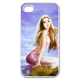 LIULAOSHI Mermaid Phone Case for iphone4 White [Pattern-6] by runtopwell