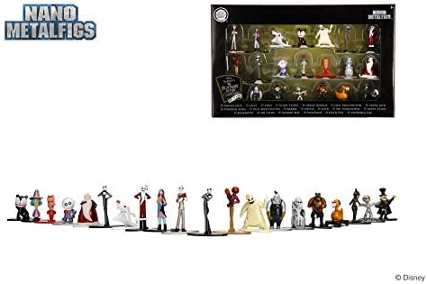 Jada Nano Metalfigs 30122 Disney Nightmare Before Christmas Wave 1 Metals Die-Cast Collectible Figures 1.65 Multicolor