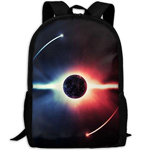 3D Funny Eclipse Logo Unisex Backpack Lightweight Laptop Bags Shoulder Bag School Bookbag (Eclipse Oxford Shoes)