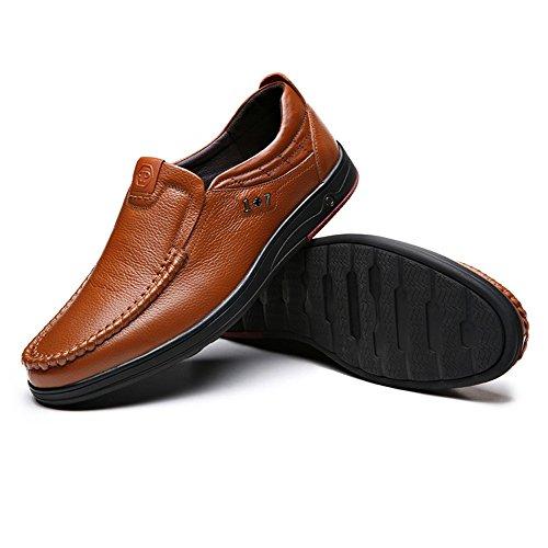 Formelle Décontractée Noir Marron Robe Aavilable on Slip Hommes Grande Couleur Taille Chaussures pour EU ou 40 Tufanyu Mocassins Oxfords Taille 4OzcvWgP