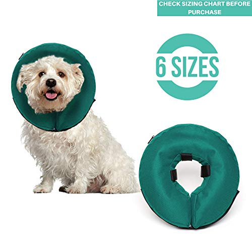 ProCollar Protective Inflatable Recovery Collar for Dogs and Cats - Soft Pet Cone Does Not Block Vision E-Collar - Designed to Prevent Pets from Touching Stitches, Wounds and Rashes - Inflatable Procollar