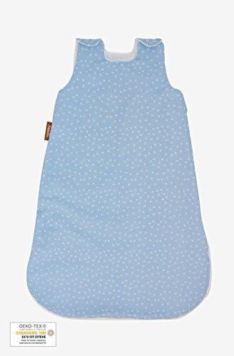 Kadolis Gigoteuse Et/é en Coton Bio Motifs /étoiles avec Pochette Assortie Bleu Pastel Naissance