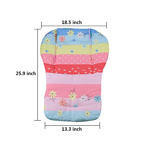 Topwon Baby Stroller/Car Seat/High Chair Wateroof Rainbow Striped Breathable Cushion Seat Liners Cover Protector by Topwon (Image #1)