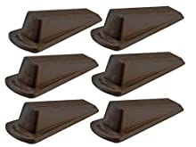 Shepherd Hardware 8939E Door Wedge, 6-Pack, Brown, 6 Count
