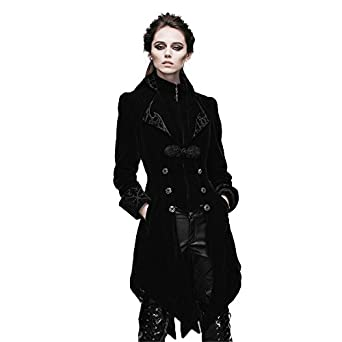 Amazon.com: Devil Fashion Steampunk Swallow Tail Coat Gothic ...