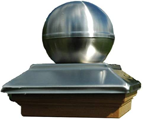 f/ür Pfosten 9x9 cm Topline Pfostenkugel aus Edelstahl