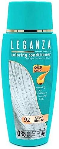 Pack Ahorro de 2 x Tintes Bálsamo para cabello sin ammoniaque color rubio plateado 92, 7 aceites naturales