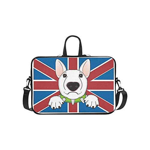 Muzzle White Bull Terrier On Middle Briefcase Laptop, used for sale  Delivered anywhere in Canada