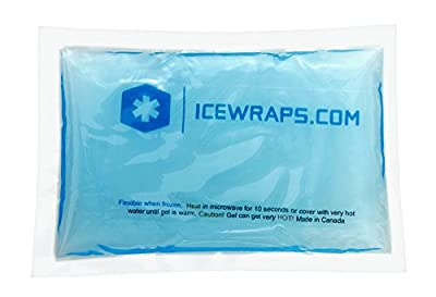 3 X 5 Gel Ice Packs Reusable Hot Packs Microwavable for Pain Relief, Headaches, Fevers, Puffiness, Stings, Burns, and First Aid By IceWraps