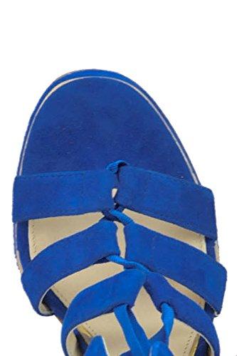 Paloma Barceló Vrouwen Mcglcat03180e Blauwe Suède Sleehak
