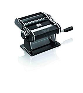 Marcato Atlas Pasta Machine, Made in Italy, Black, Includes