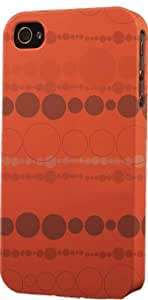 Brown Circular Pattern Dimensional Case Fits Apple iPhone 6