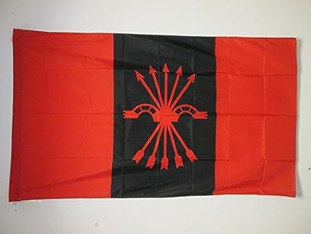 AZ FLAG Bandera de la FALANGE ESPAÑOLA DE Las JONS 90x60cm para Palo - Bandera del FALANGISMO 60 x 90 cm: Amazon.es: Hogar