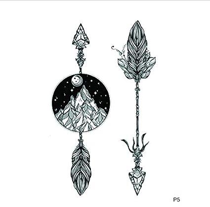 ruofengpuzi Adesivo tatuaggioFlecha De Piedra Impermeable Tatuaje ...