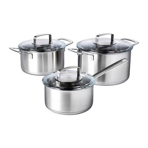 Alta calidad Juego de cacerolas, 6 piezas IKEA 365 + acero ...
