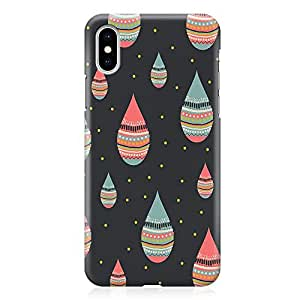 Loud Universe Phone Case Fits iPhone XS Wrap Around EdgesDrops Phone Case Droplets Phone Case Dark iPhone XS Cover