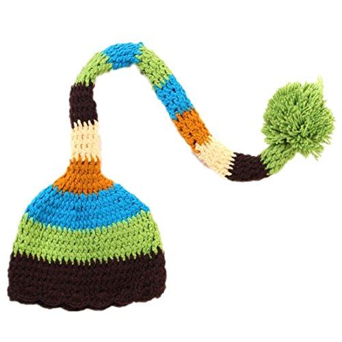 3f9d7e48dea Kafeimali Baby Christmas Elf Long Tail Crochet Beanie Knit Hat ...