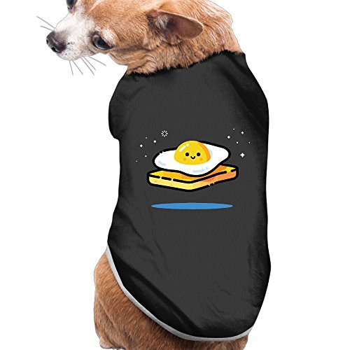 [Egg Funny Summer Costumes, Clothing, Shirt, Vest, T-shirt, Puppy Pet Dog Cat Fashion 100% Polyester Fiber Tee Gift For Any Animal Fan Lovers Black] (Costume Caviar)