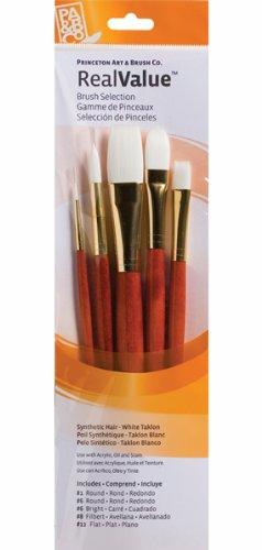 Princeton Artist Brush, Set 9155 5-Pc Lh White Taklon