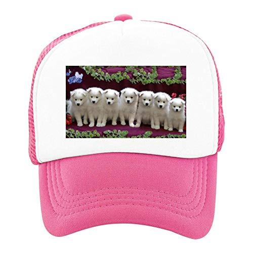 EThomasine Kids Girls Boys Mesh Cap Trucker Hats American Eskimo Adjustable Hat Pink by EThomasine