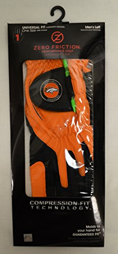 - Zero Friction Men's Left Hand Universal Golf Glove - Denver Broncos - Orange