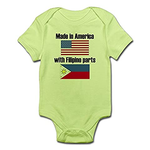 CafePress - Made In America With Filipino Parts Body Suit - Cute Infant Bodysuit Baby Romper (Infant Filipino)