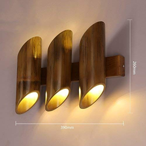 WHKHY Lámpara de Pared de bambú Retro, Restaurante Bar Salón Adornar Estudio de Objetos de iluminación Ingeniería de...