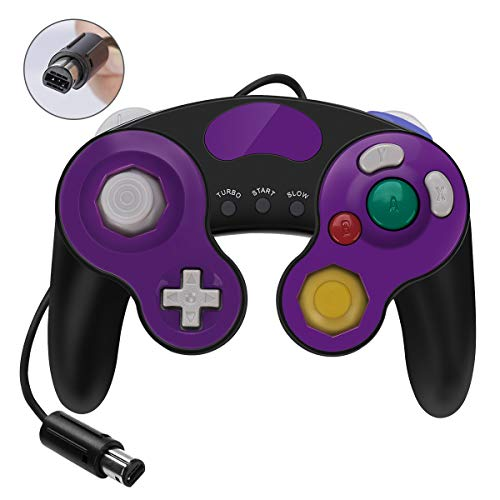 GameCube Controller for Super Smash Bros Ultimate,Wii Controller with Turbo Function,No Lag/Driver,Compatible With Switch/Wii/Wii U/PC,Classical Wired Switch Gamecube Controller(Black) ()