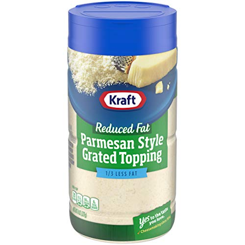 Kraft Reduced Fat Parmesan Style Grated Topping, 8 oz Jar
