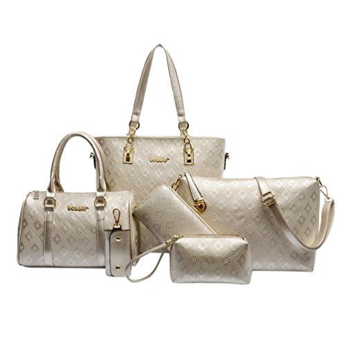 Kairuun Women Tote Bag Pu Leather Handbag Solid Color 6piezas In September Lxdorado