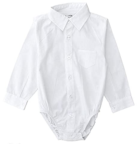 Littlest Prince Couture Infant/Toddler/Youth Long Sleeve White Dress Shirt Bodysuit 3T - Couture Formal Dresses