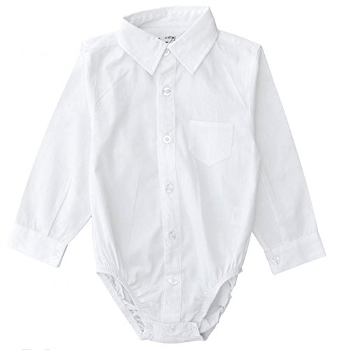Littlest Prince Couture Infant/Toddler/Youth Long Sleeve White Dress Shirt Bodysuit 3T