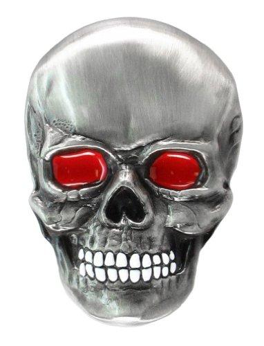 (Pewter Belt Buckle - Father Skull - Pewter Belt Buckle)