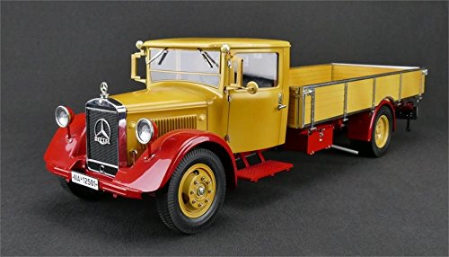 CMC Mercedes-Benz Racing car Transporter Platform Truck diecast Model in 1:18 Scale